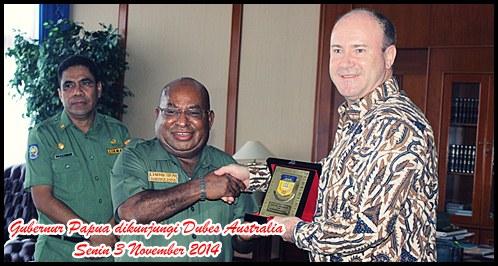 Gubernur Papua di Kunjungi Dubes Australia