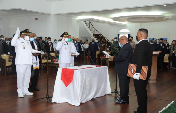 The Inauguration Regent and Deputy Regent of Boven Digoel